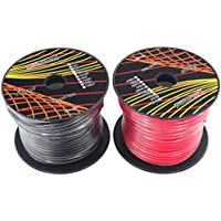 GS Powers 10 Gauge Ga, 2 Rolls of 100 Feet (total of 200 ft) Car Audio Video Power Primary Remote Turn on Hook up Trailer CCA Wire (Cable Set Color: Red, Black)