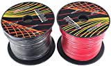 GS Power's 10 Gauge Ga, 2 Rolls of 100 Feet (total of 200 ft) Car Audio Video Power Primary Remote Turn on Hook up Trailer CCA Wire (Cable Set Color Red, Black)