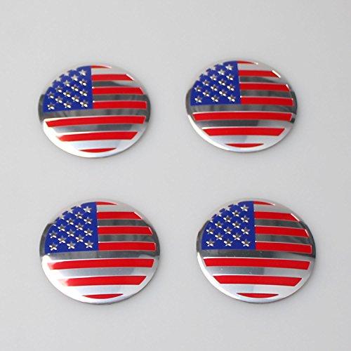 Generic Auto Racing Sports US USA American Flag Car Wheel Center Hub Cap Emblem Badge Sticker 56.5MM