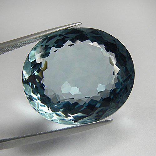 20x18 mm. Big Brilliant Oval Portuguese Cut Paraiba Blue Tourmaline Loose Gem ()