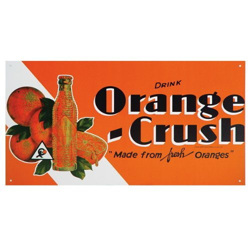Orange Crush Metal Sign Kool