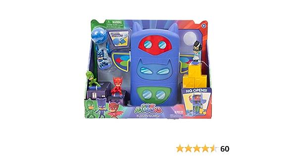 Juegos PJ Masks Playset Quartier General abatible con Minifiguras y Accesorios