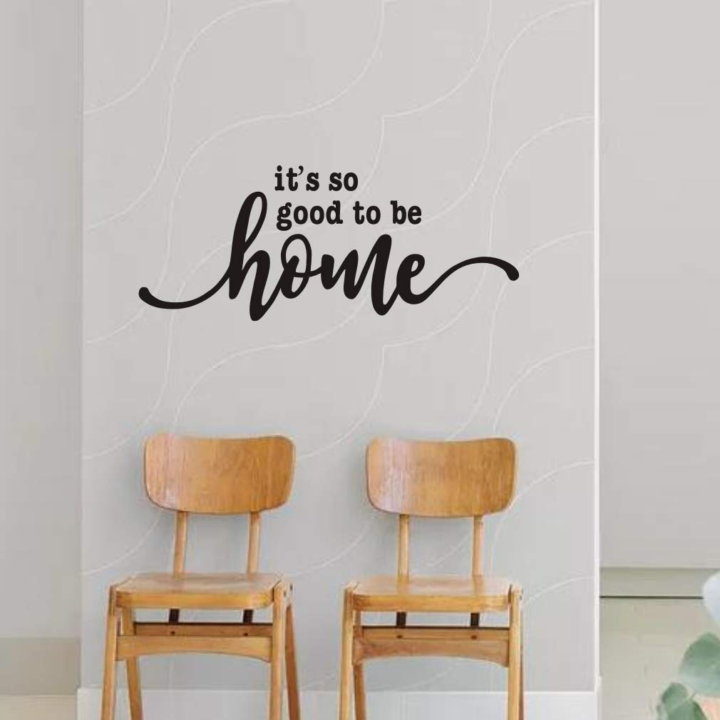 IARTTOP It's So Good to Be Home Quote Wall Decal, Family Saying Sticker, Black Lettering Wall Art for Living Room Door Home Decor