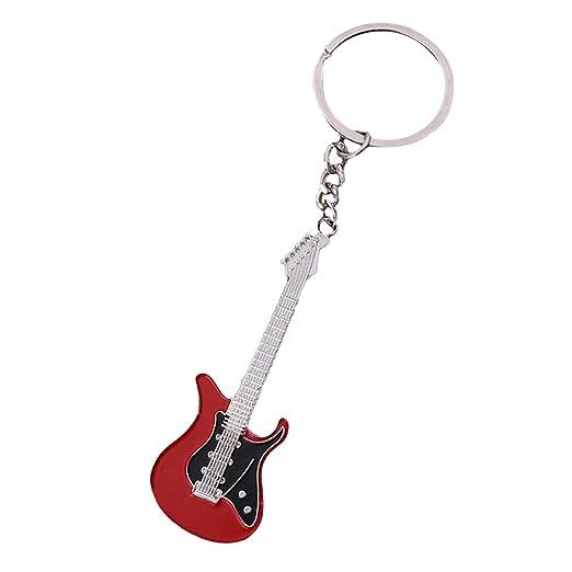 Nikgic 1pc Instrumento Musical Guitarra Llavero Pequeño ...