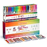 360 Vibrant Spectrum Gel Pens Set for Adult Coloring Books. 160 Gel Ink Pens w/ 160 Identical Refills (No Duplicates). Long-Lasting, Smooth Flowing Archival Quality Pens in Mind-Blowing Colors