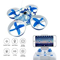 Mini Drone FPV Drone,Quadcopter Drone with WiFi 1MP Camera , RC Drone ,2.4G 4CH 6Axis Drone ,Altitude Hold and One-key Return ,3.7V 260mAH Batteries