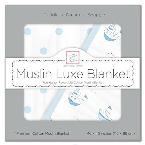 SwaddleDesigns 4 Layer Muslin Blanket Cuddle