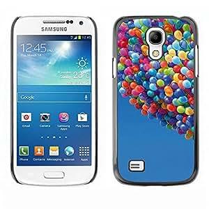 Be Good Phone Accessory // Dura Cáscara cubierta Protectora Caso Carcasa Funda de Protección para Samsung Galaxy S4 Mini i9190 MINI VERSION! // Balloons Up Sky Blue Summer Cartoon