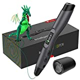 TECBOSS 3D Pen, SL300 Intelligent 3D Printing Pen with LED Display,USB Charging, 8 Speed Printing&Temperature Control, Simple Handled 3D Printer Pen for Your Kids Toys, Interesting Gifts for All Age(Black)
