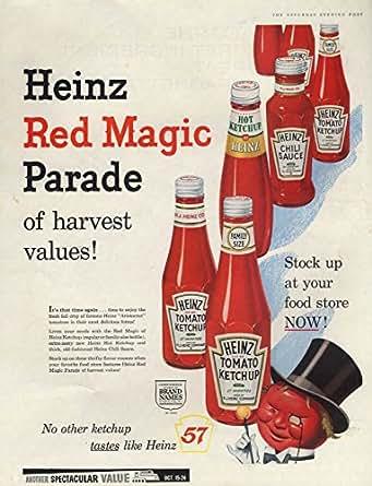 Heinz Red Magic Parade Ketchup Amp Chili Sauce Ad 1959 Sep