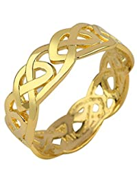 Solid Gold Celtic Wedding Band Trinity Knot Eternity Ring (10k) (7.5)