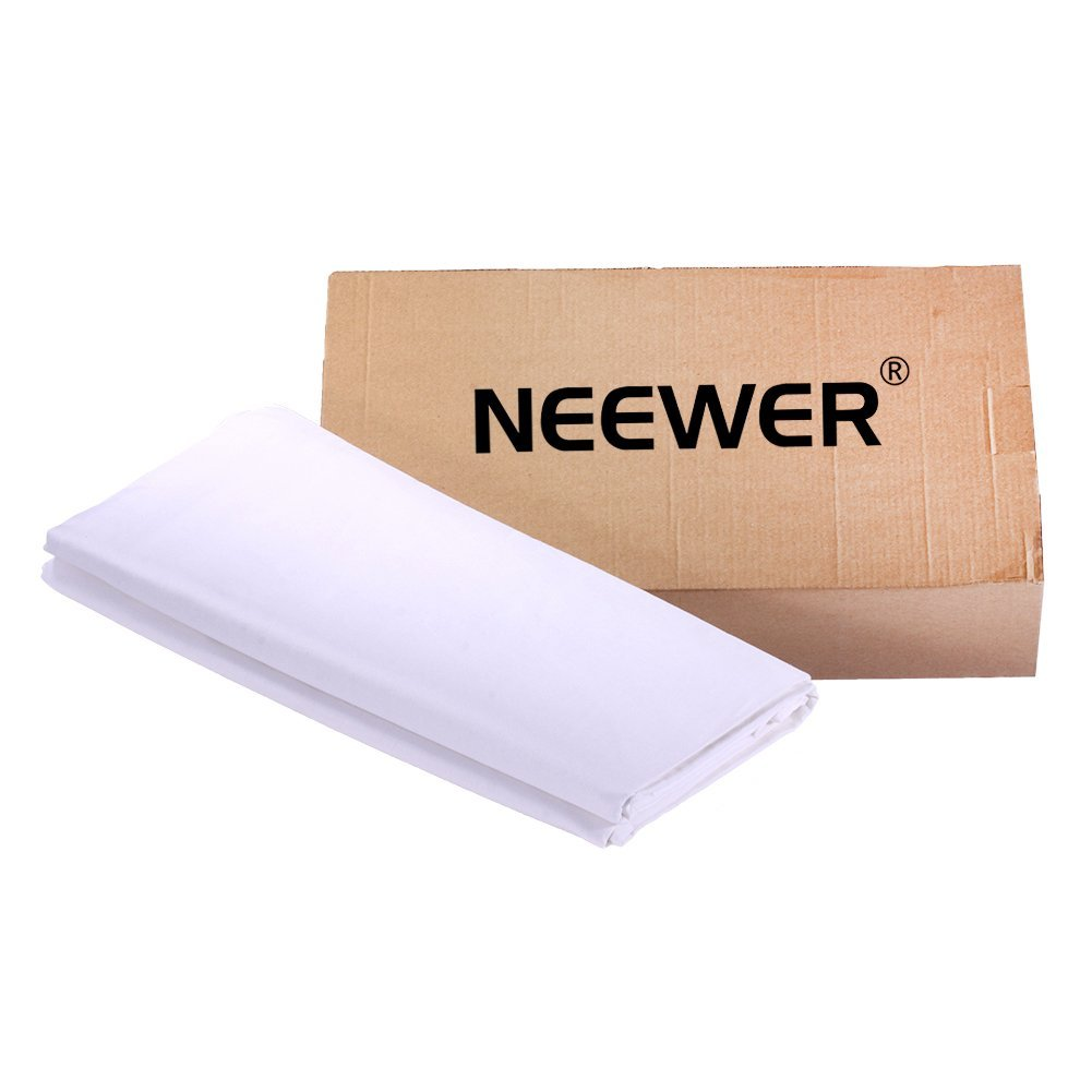 Neewer 10 x 20FT / 3 x 6M PRO Photo Studio 100% Pure Muslin Collapsible Backdrop Background for Photography,Video and Televison (Background ONLY) - WHITE by Neewer (Image #2)