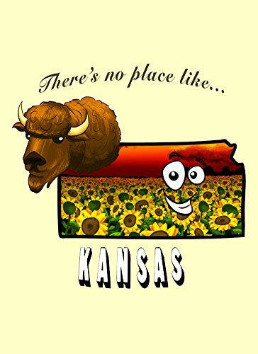 Rectangle Refrigerator Magnet - There's No Place Like Kansas ()