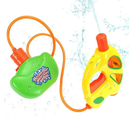FUNTOK Water Gun Portable Pod Tank Water pistol Super Soaker Summer Toys Outdoor Play Water Beach Toys