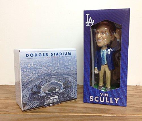 2016 Dodger Stadium REPLICA and 2015 Vin Scully Dodgers PROMO Bobblehead SGA by LA Dodgers