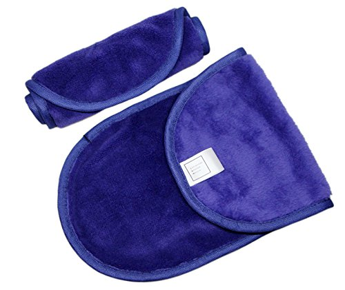 Eco-Friendly 2 pcs Makeup Remover Cloth with BONUS Cleansing Mitt. Gently Removes Makeup Using Just Water, Easy to Clean, Reusable and Machine Washable. by Scissors Paper Rock