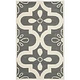 Safavieh Chatham Collection CHT751D Handmade Dark Grey and Ivory Premium Wool Area Rug (3' x 5')