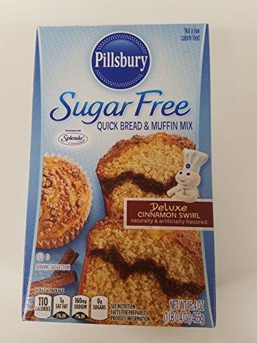 (Pillsbury Sugar Free Deluxe Cinnamon Swirl Quick Bread & Muffin Mix, 16.4 oz)