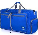 """Bago Travel Duffel Bag For Women & Men - Foldable Duffle For Luggage Gym Sports (Medium 23"""",DeepBlue)"""