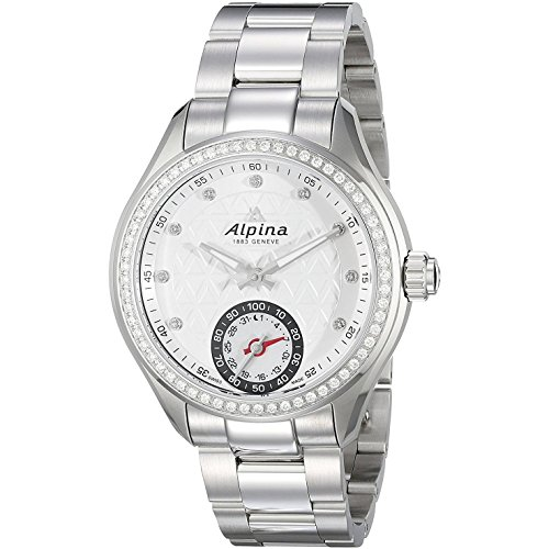 Alpina Women's AL-285STD3CD6B Horological Smart Analog Display Swiss Quartz Silver Watch by Alpina