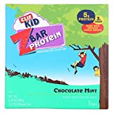 Clif Kid Zbar Organic Protein Bar for Kids - Chocolate Mint - Case of 6-1.27 Oz.