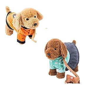 Black Temptation Electronic Plush Toy Dog Remote Control Machinery Pet-Orange