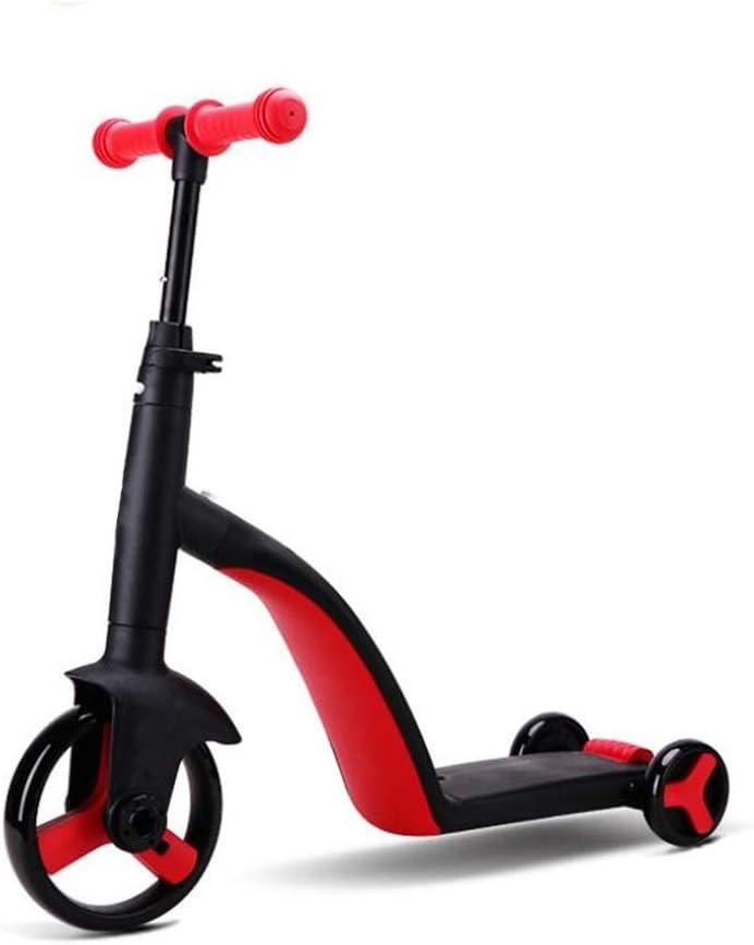 LXIANGP Andador de Bicicletas para Niños 3 en 1 Bicicletas de Equilibrio para niños Sin Pedal Edad 2-6 para Caminar Aprendiendo Bicicleta para Chicos Chicas Asa Ajustable Fácil de Retraer (Color : C)