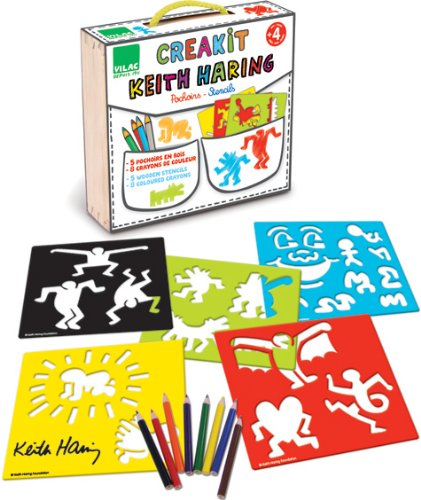 Vilac Keith Haring Stencils Set by Vilac