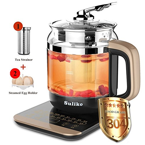 Electric kettle, Suliko 1.5L 800W Heat Resistant Borosilicat