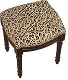 SketchONE Upholstered Vanity Stool, Cheetah