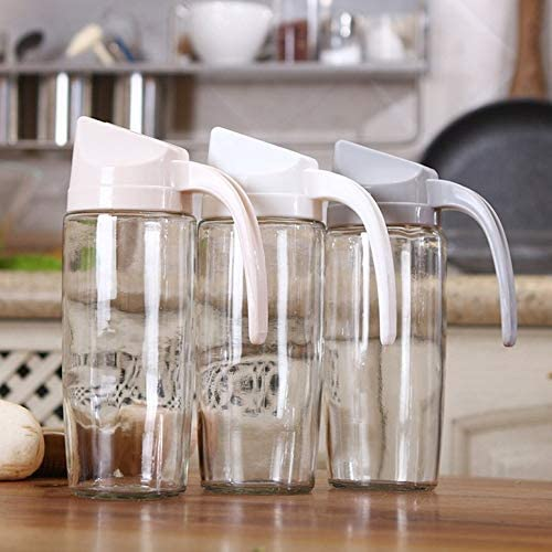 Creative New Automatic Opening and Closing Oil Bottle Kitchen Multi-Purpose Transparent Dustproof Leak-Proof Glass Oil Pot