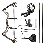 Leader Accessories Compound Bow Hunting Bow 50-70lbs with Max Speed 310fps (Green Camo with Kit)