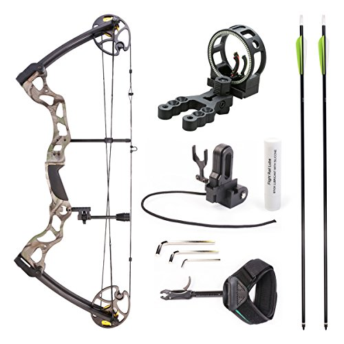 Leader Accessories Compound Bow Hunting Bow 50-70lbs with Max Speed 310fps (Green Camo with Kit) Review