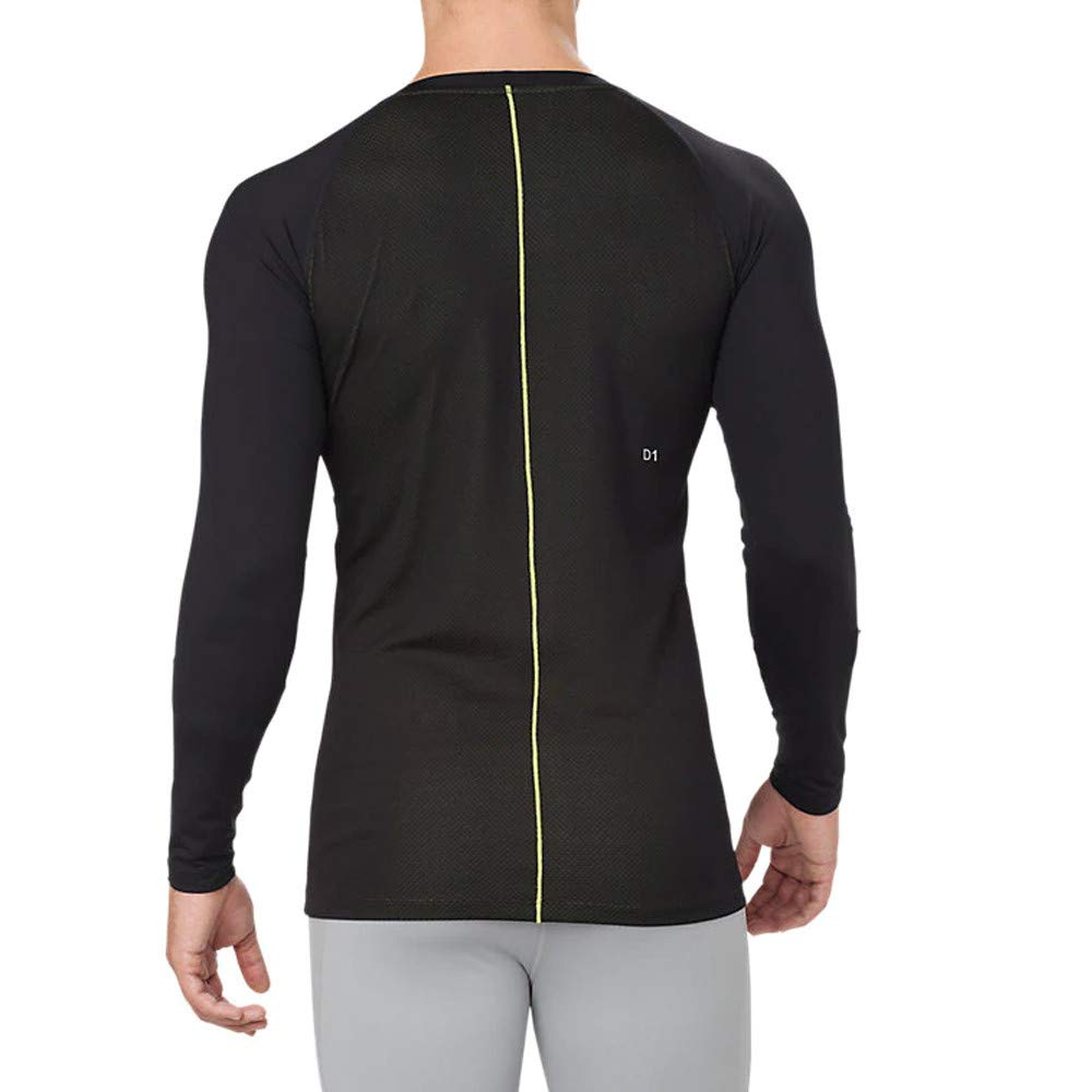 e8047797b7 Asics Base Layer Long Sleeve Top - AW18 - XX Large Black: Amazon.co ...