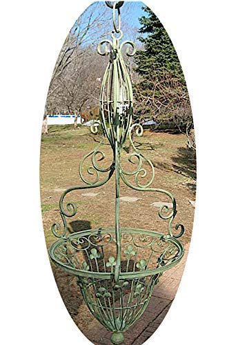 UD Victorian Design Hanging Basket Iron Antique Green New