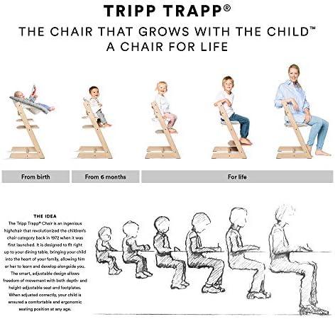 TRIPP TRAPP Silla evolutiva de madera | Silla de altura regulable ...