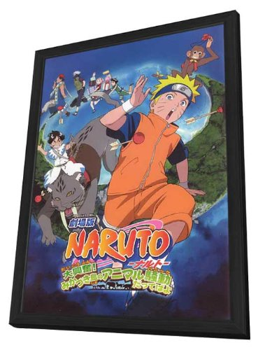 Naruto The Movie 3: Guardians of The Crescent Moon Kingdom 11 x 17 Movie Poster - Japanese Style A - in Deluxe Wood Frame