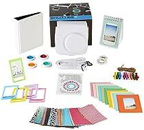 Fujifilm Instax Mini 9 or Mini 8 Instant film Camera Accessories Bundle. WHITE 11 Piece Gift Box Fuji accessories Kit Includes: Case + Strap, Fujifilm Albums, Filters, Selfie Lens, 60 Stickers & More