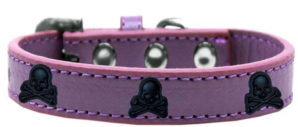 Mirage Pet Products 631-27 LV10 Skull Widget Dog Collar, Size 10, Lavender