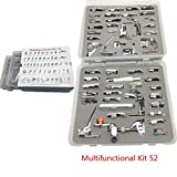 YEQIN 52 PCS Domestic Sewing Foot Presser Feet Set for Singer, Brother, Janome,Kenmore, Babylock,Toyota,New Home, And Low Shank Sewing Machines