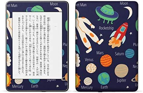 igsticker kindle paperwhite 第4世代 専用スキンシール キンドル ペーパーホワイト タブレット 電子書籍 裏表2枚セット カバー 保護 フィルム ステッカー 015984 太陽系 宇宙 惑星