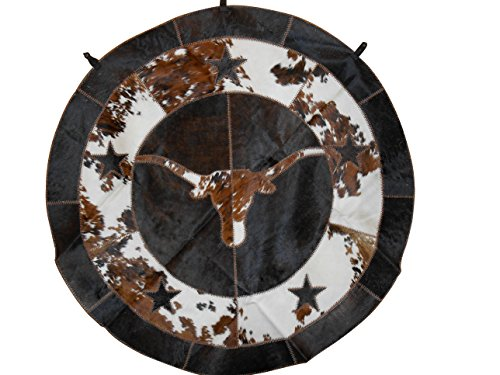 Round Cowhide Rug With Longhorn And Star - Round Cowhide Rugs Shopping Results