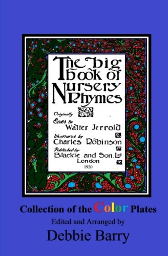 Nursery Rhyme Plate - The Big Book of Nursery Rhymes: Collection of the Color Plates