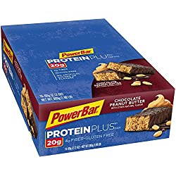 PowerBar Protein Plus Bars, Chocolate Peanut Butter, 20g Protein, 2.12-Ounce Bars (Pack of 15)