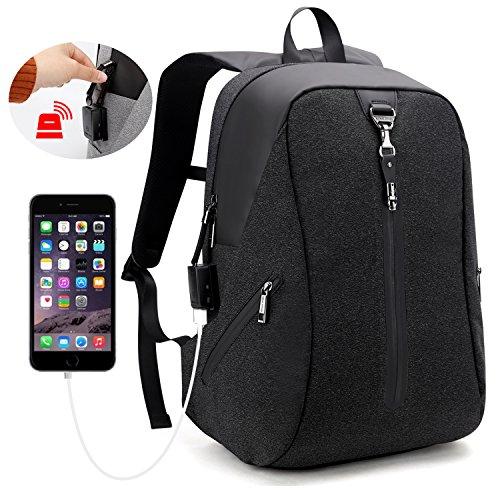 AH ARCTIC HUNTER Theft Proof 15.6 Inch Shockproof Laptop Backpack for Men & Women College School Business Travel Rucksack Book Bag (Black)