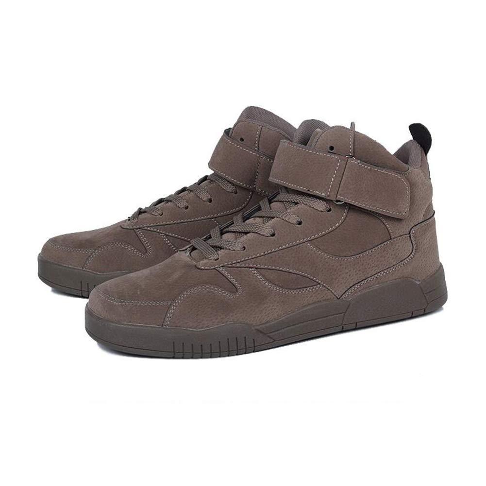 SUNNY Hip-Hop High-Top-Schuhe Baumwollschuhe Basketball Übung Laufschuhe Winter Schwarz Grau Braun Rot (Farbe   braun, größe   EU41 UK7.5-8 CN42)