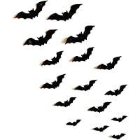 ONECUT (48PCS) 3D Removable Bat Stickers Wall Art Decor, for Halloween Party Kids Children Bedroom Living Room Office…