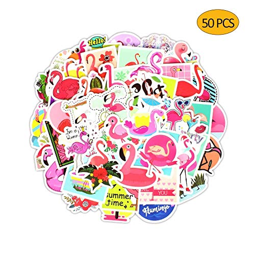 50 Pcs Flamingo Stickers for Laptop Car Luggage Bicycle Motorcycle Computer Skateboard Snowboard Water Bottle]()
