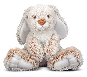 Melissa & Doug Plush Burrow Bunny Rabbit Stuffed Animal, 9-Inch