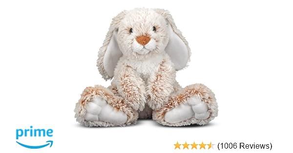 Amazon Com Melissa Doug Burrow Bunny Rabbit Stuffed Animal